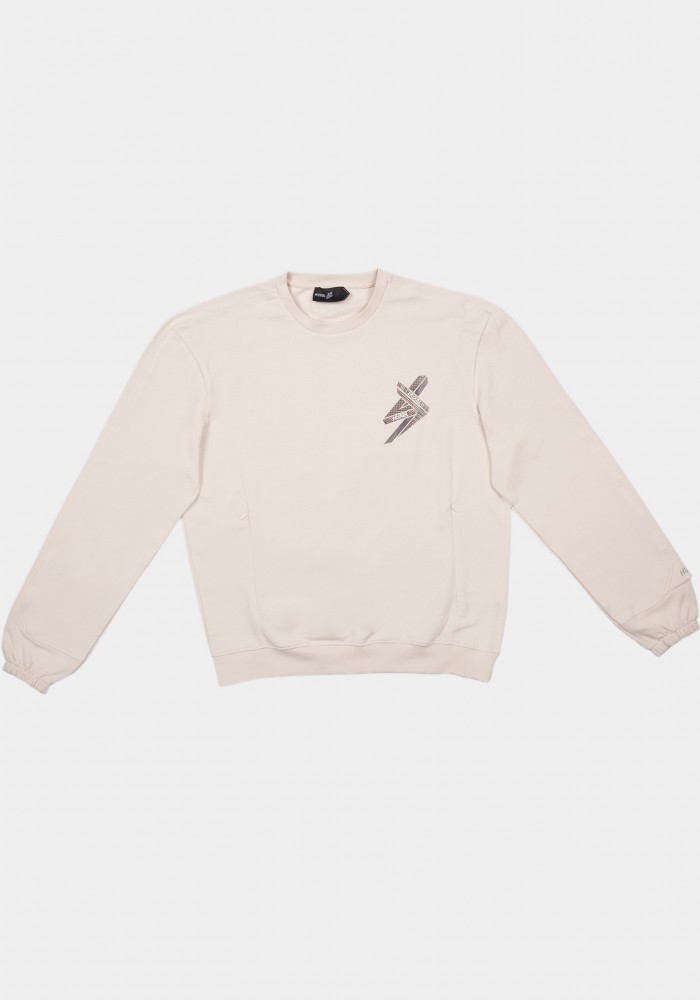 Bej Oversize Sweatshirt