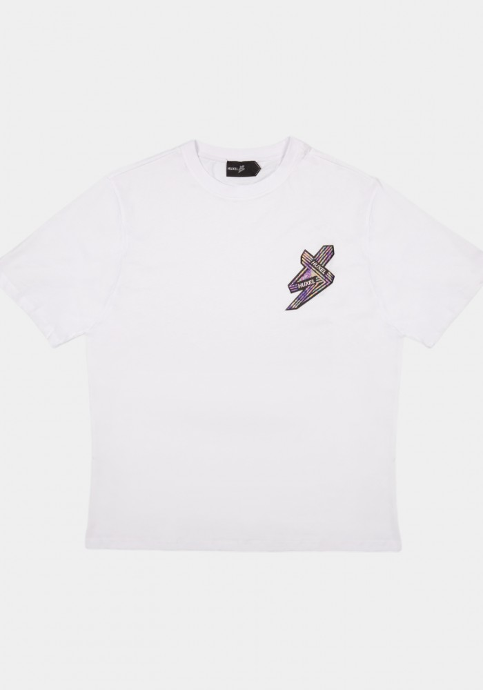 Beyaz Baskılı Oversize T-shirt