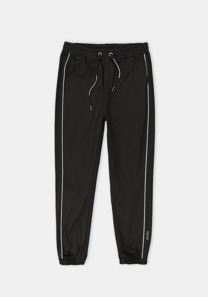 Boho Chic Reflektör Nakış Detaylı Siyah Sweatpant