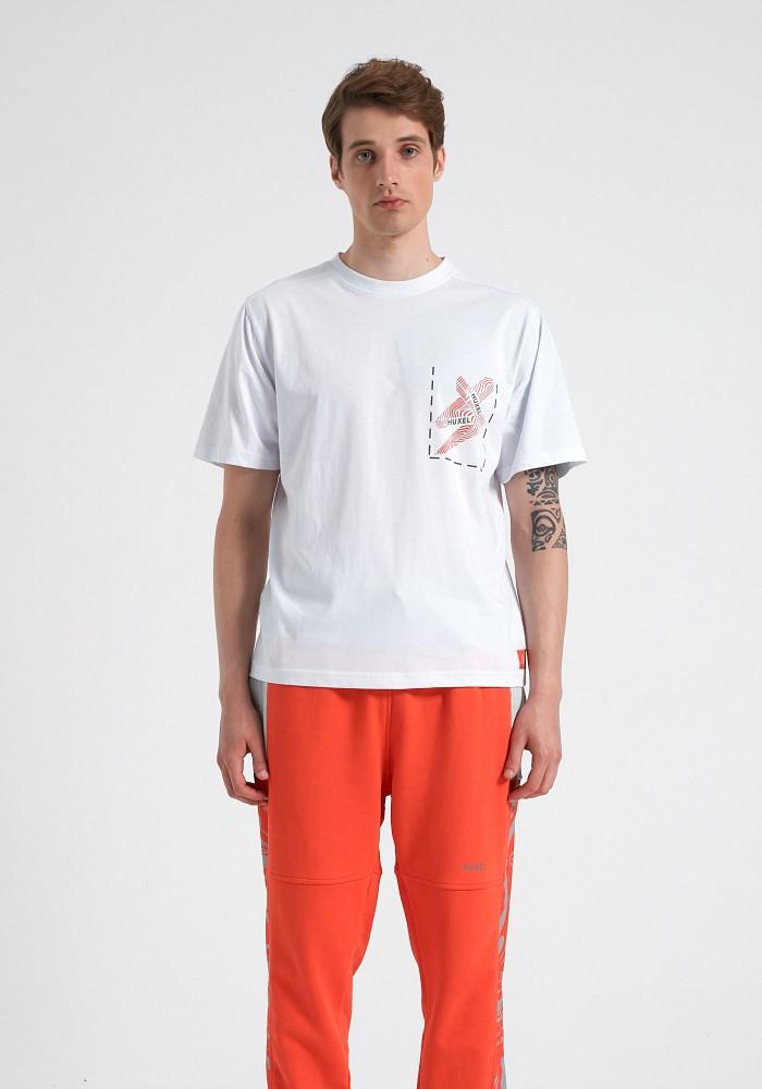 Glam Street Reflektör Detaylı Beyaz T-Shirt