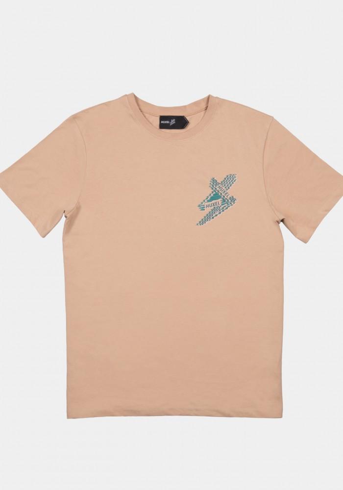Kahverengi Baskılı Regular T-shirt