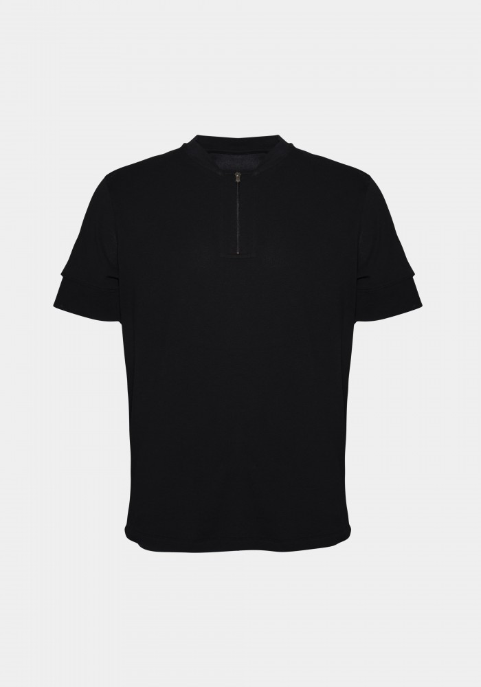 Kol Ucu Huxel Baskılı Tshirt