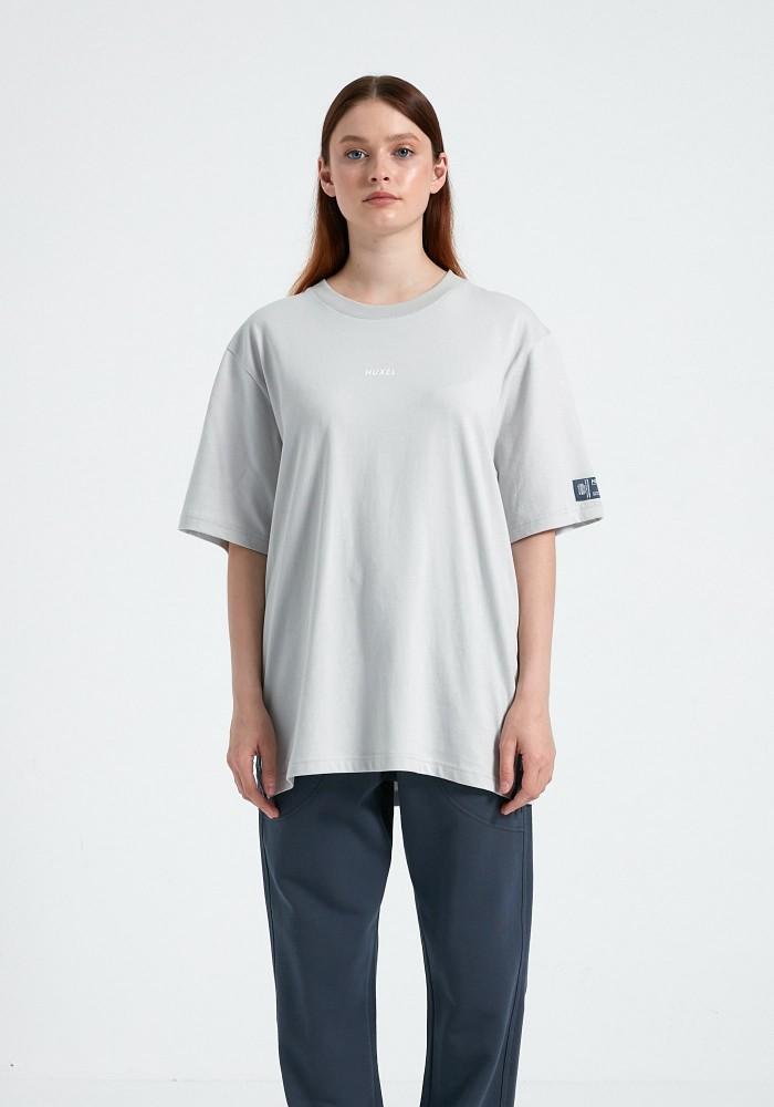 Natural Touch Fermuar Detaylı Gri T-Shirt