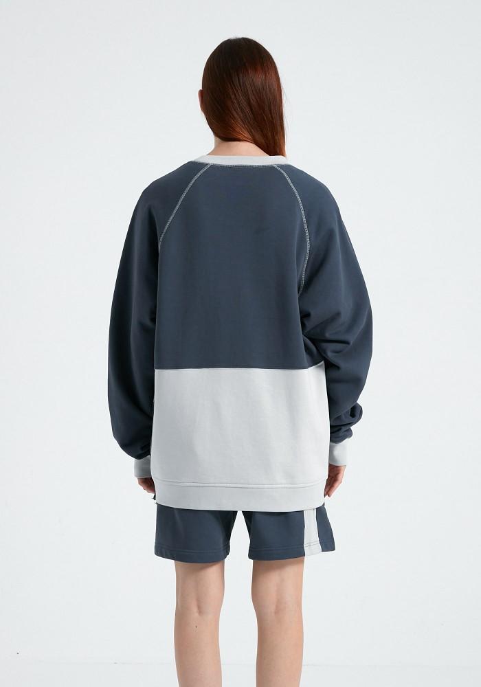 Natural Touch Lacivert - Koyu Gri Baskılı Sweatshirt