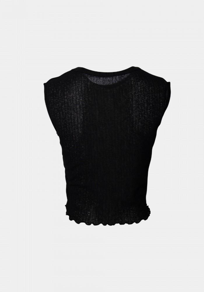 Sırt Transparan Detaylı Bluz