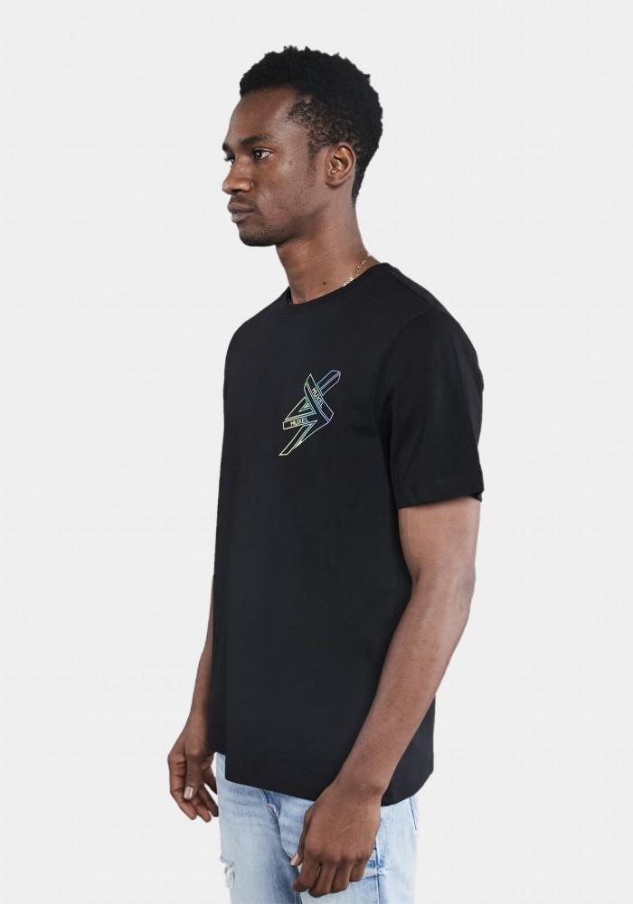 Siyah Baskılı Oversize T-shirt