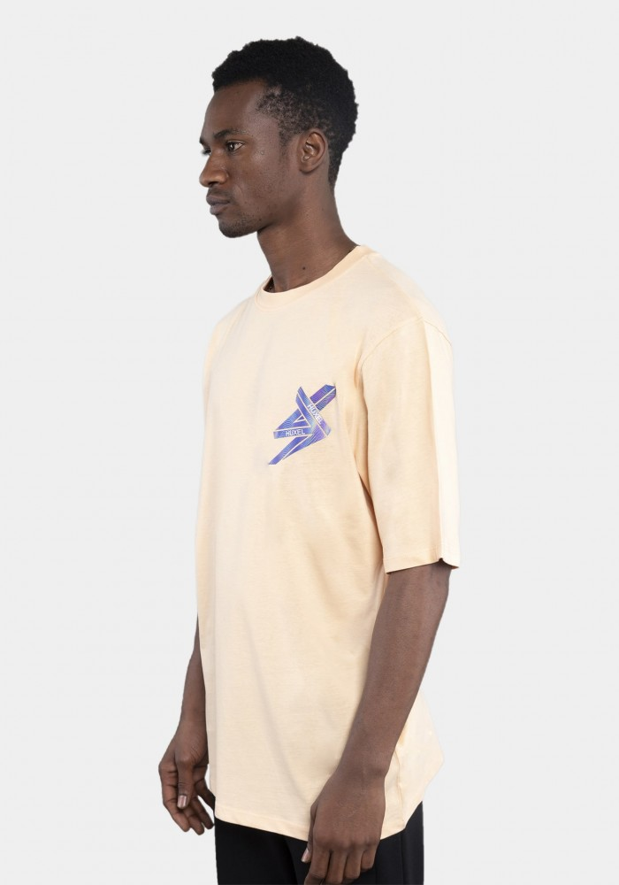 Somon Baskılı Oversize T-shirt