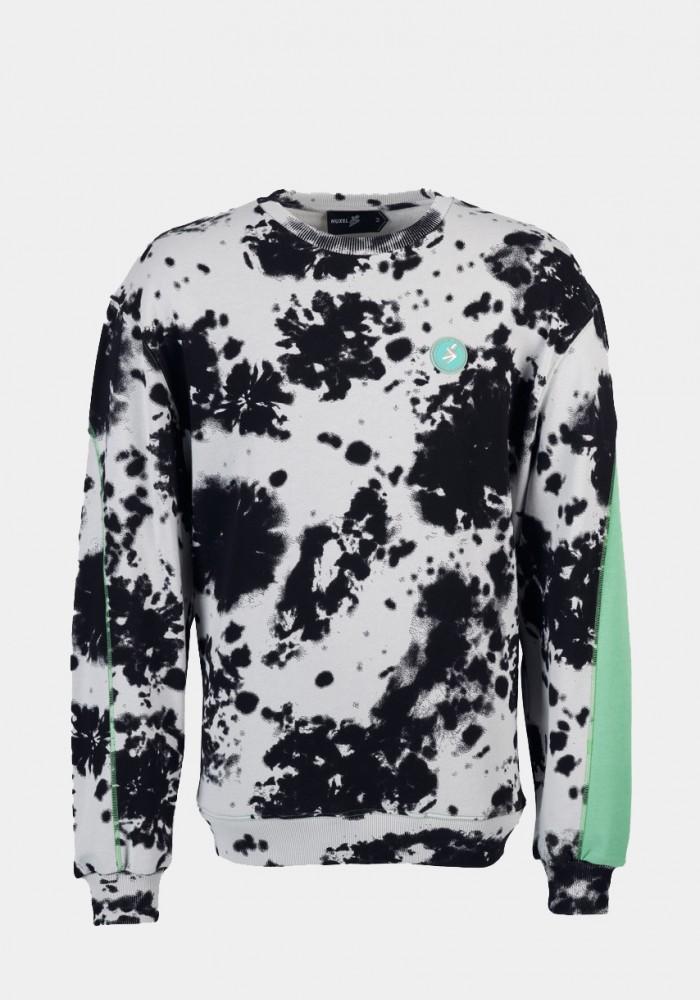 Yeşil Baskılı Dalmaçya Desenli Sweatshirt